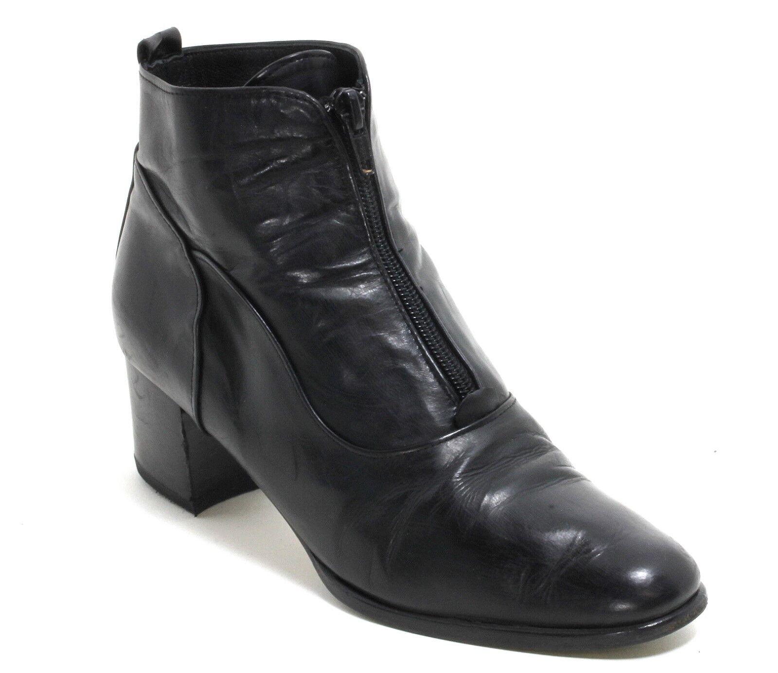 Bottines Vintage Chaussures Basses en Cuir Bettiu Fermeture Éclair Élégant