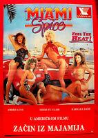 MIAMI SPICE 1980'S AMBER LYNN SHERI ST. CLAIR BARBARA DARE EXYU MOVIE POSTER