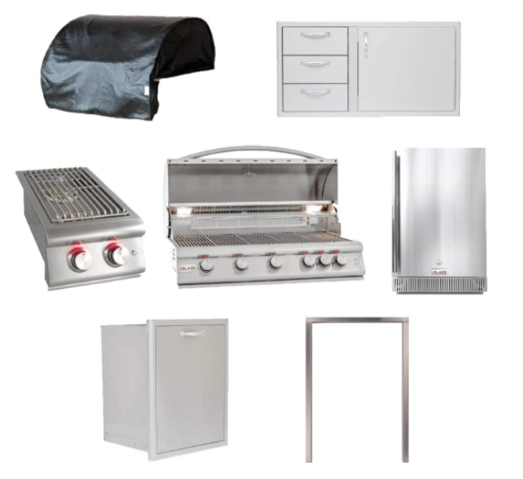 Newage Outdoor Kitchen 40 Inch Aluminum Insert Grill Cabinet In Coastal Gray For Sale Online Ebay