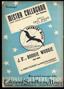 MISTER-CALLAGHAN-J-D-039-s-BOOGIE-WOOGIE-SPARTITO-Pianoforte-conduttore