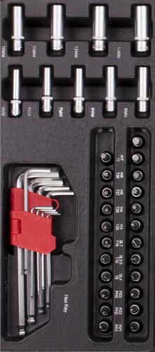 Kunststoff-Inlay Stecknüsse Set und Innensechskant Schlüssel Set aus CRV inkl