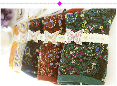 5 Pairs Mixed Colors Of Retro Ethnic Autumn Winter Womens Socks #93855