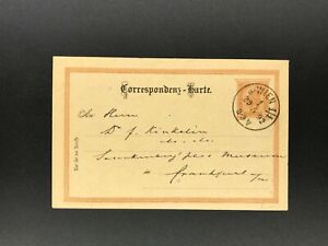 Ganzsache-Osterreich-2-Kreuzer-nach-Wien-nach-Frankfurt-1892