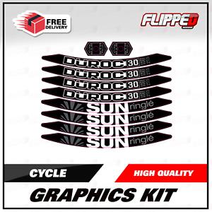 Sun Ringle DJ 30 27.5 Duroc Cycle VTT Jante Roue Stickers Autocollants Graphiques