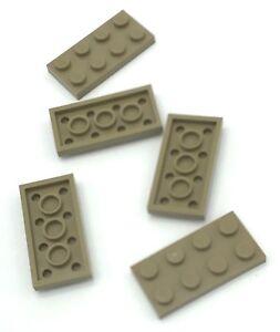 Lego 5 New Dark Tan Plates 1 x 2 Dot Building Blocks Pieces