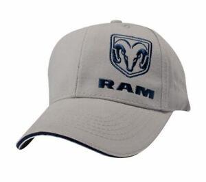 New Ram Gray Cotton Twill Cap Baseball Cap Ram Truck Brand Ball Cap ... 6f28d62c248