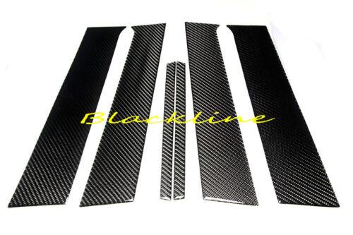 For 08~15 Mitsubishi Lancer EVO X 10th Carbon Fiber Door Trim Pillar Panel Cover