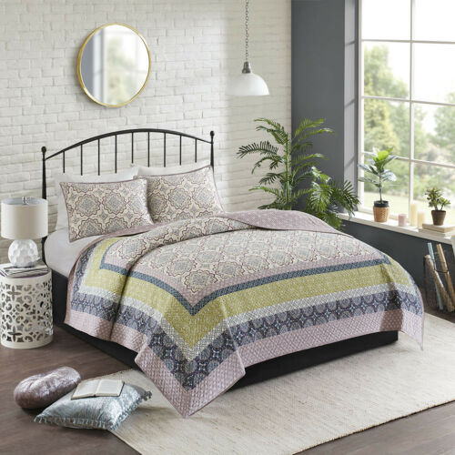 Madison Park Piper 3-Piece Reversible Printed Coverlet Set