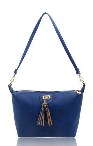 Women Small Size Clutch Messenger Handbag Shoulder Bag With Tassel Details Front