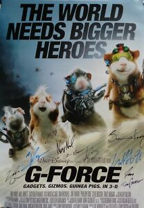 Autographed G Force 2009 Cast Signed Movie Poster Coa Ebay
