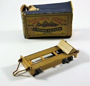 Vintage-Matchbox-Moko-Lesney-No-16-Super-Atlantic-Trailer-Tan-in-Original-Box
