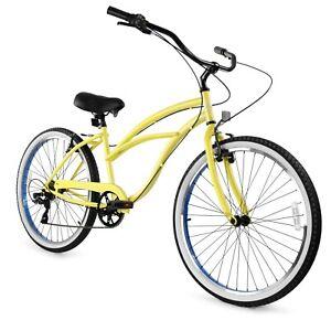 Zycle Fix Classic Beach Cruiser Men 7 Speed Bicycle Bike Grey NEW