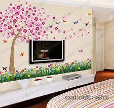 HUGE Blossom Flowers Butterflies Wall Stickers Mural Children paper Kids Girls