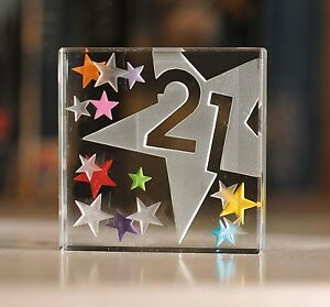 Image Is Loading Happy 21st Birthday Gifts Idea Spaceform Glass Keepsake