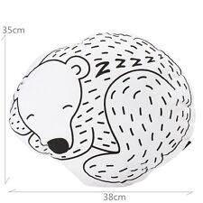 Sleeping Bear Sofa Throw Cushion Pillow Nursery Kids Toy Photo Props Home Decor