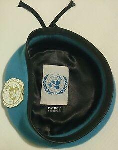 Beret-Bleu-ONU-O-N-U-Organisation-des-Nations-unies-avec-insigne-Taille-60