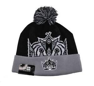 e7aa43485fb New Era LA Los Angeles Kings Hockey Black Gray Beanie Hat Men Woven ...