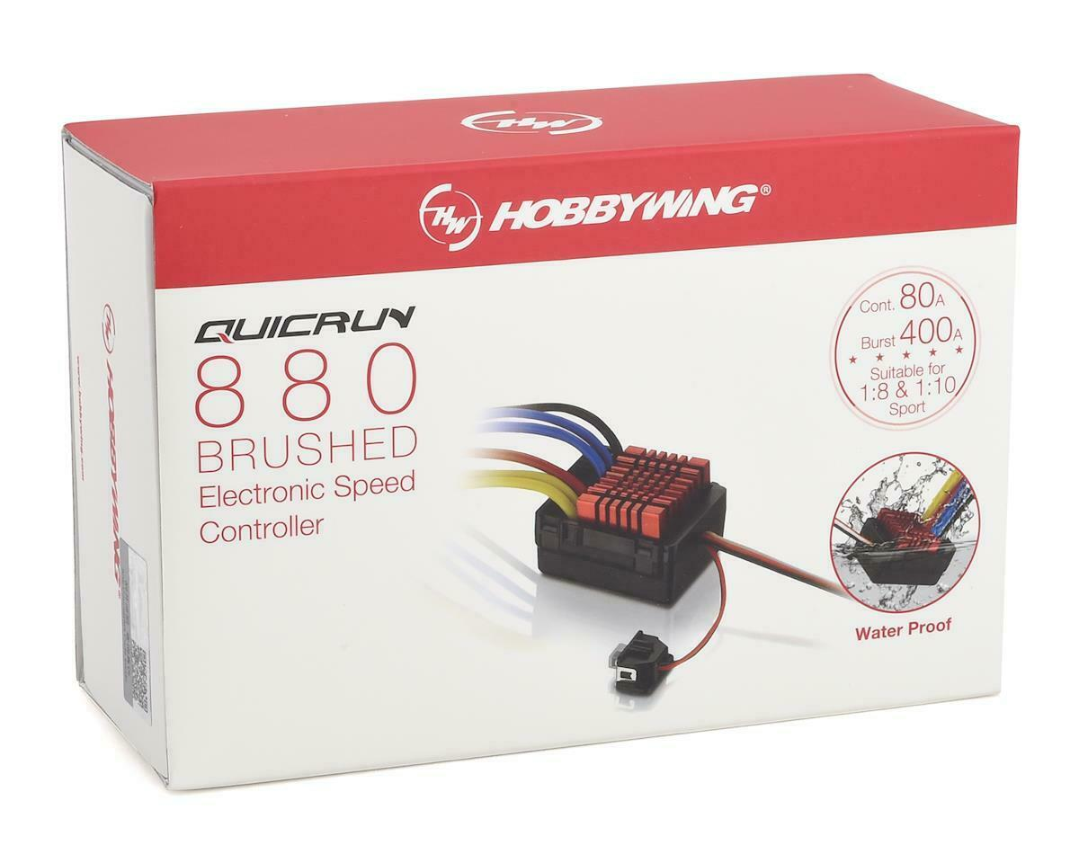 Hobbywing QuicRun 880 80A Dual Brushed Waterproof ESC Speed Controller For 1//8