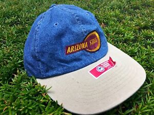 Image is loading Vintage-Arizona-State-University-Strapback-Denim-Dad-Hat- ebe6a42a487