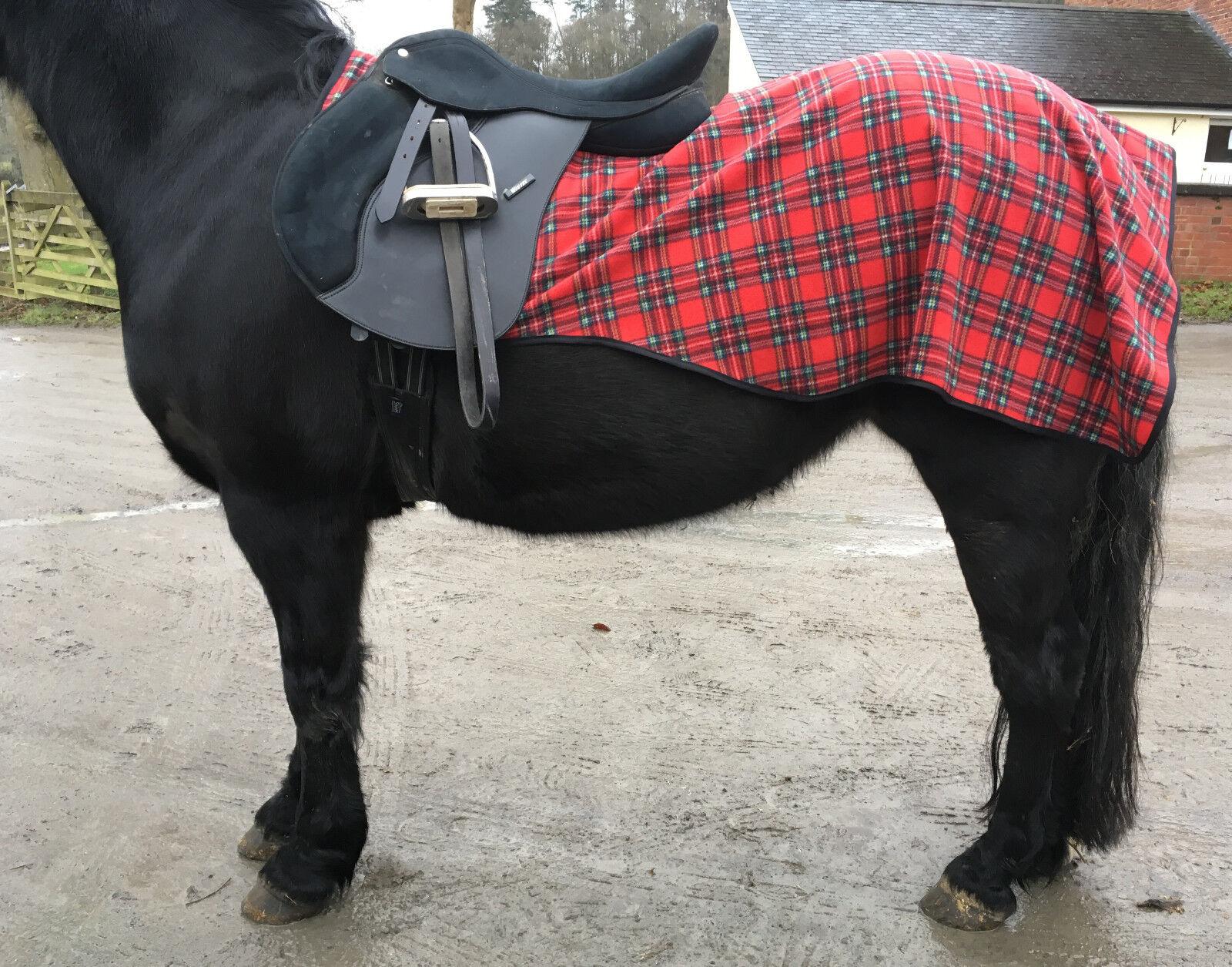 Horse Exercise Sheet Fleece Riding Pony Cob Full Tartan Lightweight