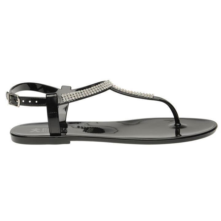 Beach Athletics Princess Toe Black post Sandals Black Toe D452-21 bb08e8