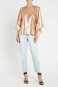 Sass-amp-Bide-METAL-ME-TEE-COPPER-Metallic-Top-SIZE-M-Medium-BNWT-RRP-220