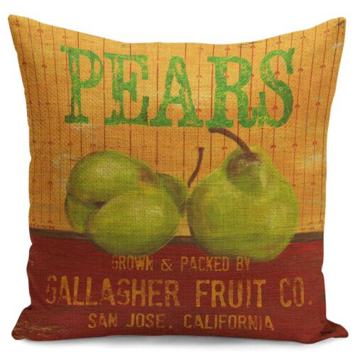 New Retro Design Fruit Sofa PillowCase Apple Pear Orange  Waist Cushion Cover