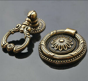Bronze Zinc Alloy Antique Euro Style Cabinet Closets Dresser Knobs Pulls Handle