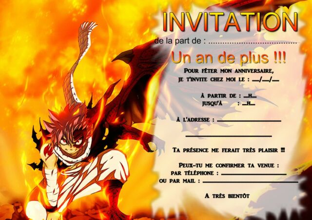Cartes Invitation Anniversaire Naruto Par 6 Ou 12 Home Garden Greeting Cards Invitations