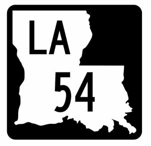 Louisiana-State-Highway-54-Sticker-Decal-R5779-Highway-Route-Sign