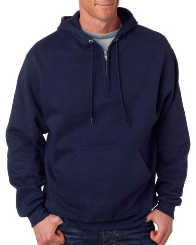 Hoodie Hoody Jerzees NEW Men/'s S-3XL NuBlend 996QZ 1//4 Zip Hooded Sweatshirt