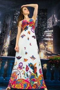 Vestito-Lungo-Donna-Woman-Dress-Maxi-Dress-Fiori-Flowers-Mare-A110025-P