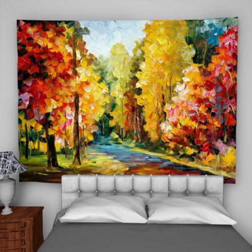 Colorful Landscape Wandteppich Kunst Wandbehang Tisch Bettdecke Wohnkultur
