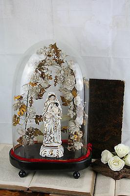 Exclusive Vieux paris porcelain  Madonna religous church globe dome 1880
