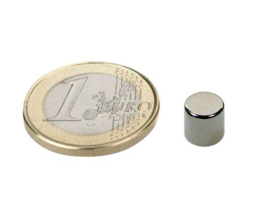 Neodym N40 hält 1,7kg Rundmagnet  Ø  7x 7mm 10 x Scheibenmagnet Nickel