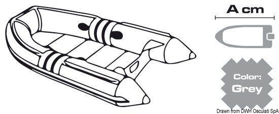 Plane für SchlauchStiefele cm cm cm 300 360 Grau 300D Marke Osculati 46.501.02 657989