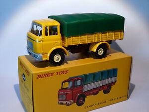 Camion-Berliet-GAK-bache-Jaune-ref-584-au-1-43-de-dinky-toys-atlas