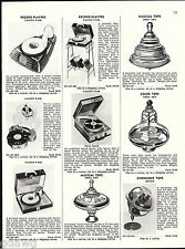 1956 ADVERT Vanity Fair Toy Record Player Mickey Mouse Ohio Art Tops Mattel