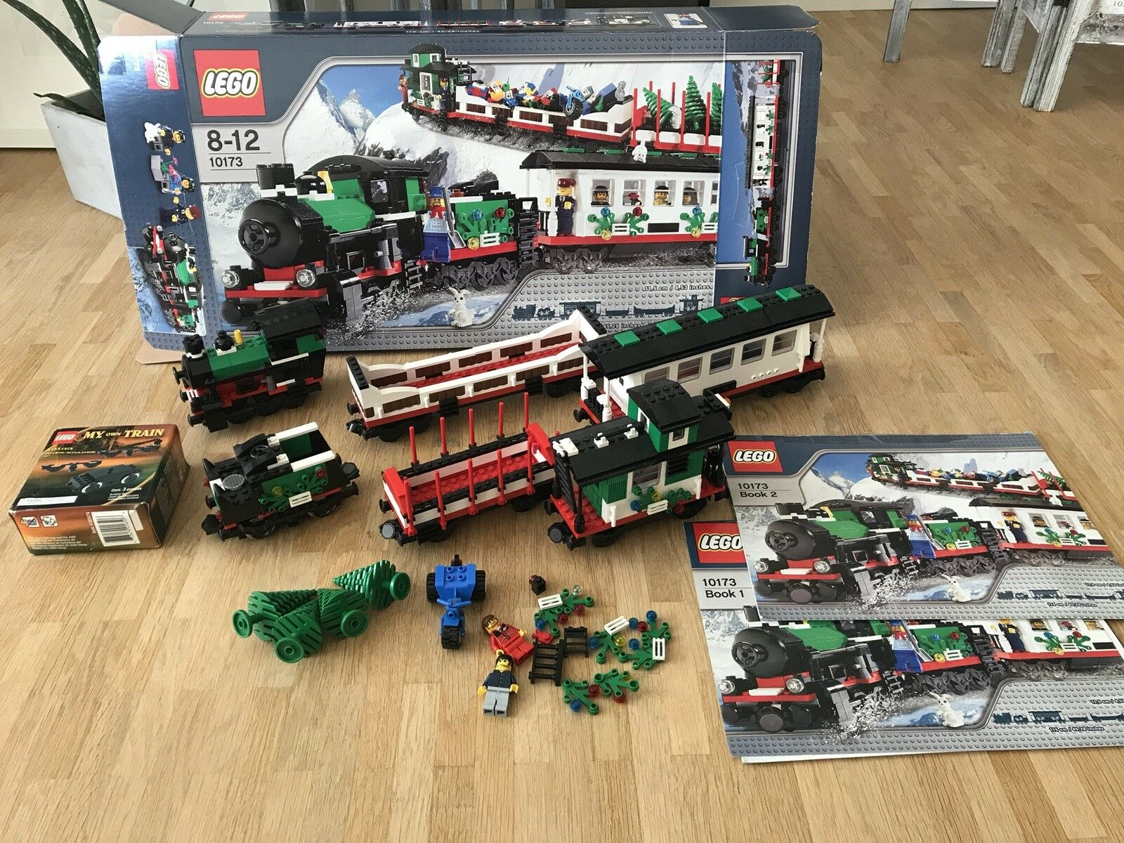 Lego 10173 Holiday Train USED with BOX  and 9v Motor  INCOMPLETE