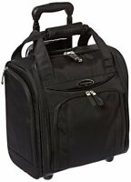Samsonite Suitcase Roll Bag Wheel Under-seater Small Black Carry-on Luggage