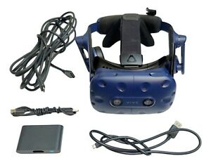 HTC-Vive-Pro-VR-Headset-and-Link-Box-with-Cables-READ-DESCRIPTION