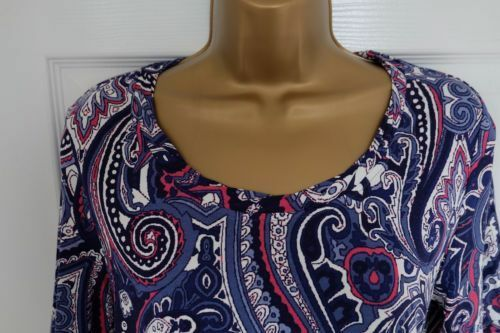 M/&S Round Neck Short Sleeve Chambray Top with Stretch Various Sizes
