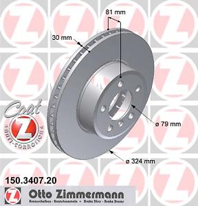 Bremsscheibe 2 Stück Zimmermann 150.3407.20 COAT Z