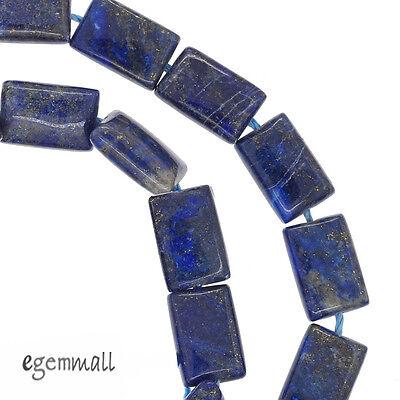 "16"" Lapis Lazuli Rectangle Cushion Beads 8x12mm Grade B+ #72057"
