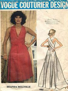 1970's VTG VOGUE Couturier Design Evening Dress Belinda Bellville Pattern 1192 8