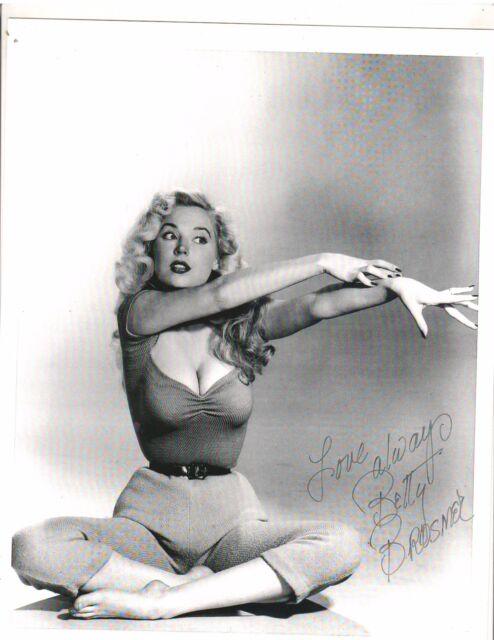 BETTY BROSMER Pin-up 1950s Bodybuilding Female  Photo B&W AUTOGRAPH Reprint #42