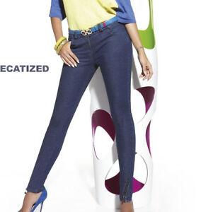 7c8b17c54f376 Pantalon toile imitation jean femme BAS BLEU Natalie coton tailles ...