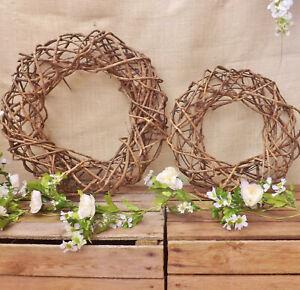 GRANDE-Profondo-NATURALE-IN-RATTAN-TONDO-CORONA-Casa-Matrimonio-Pasqua-Decorazione-di-Natale