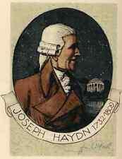 Joseph HAYDN : PORTRAIT von  Igo PÖTSCH - 1932 - Handsigniert