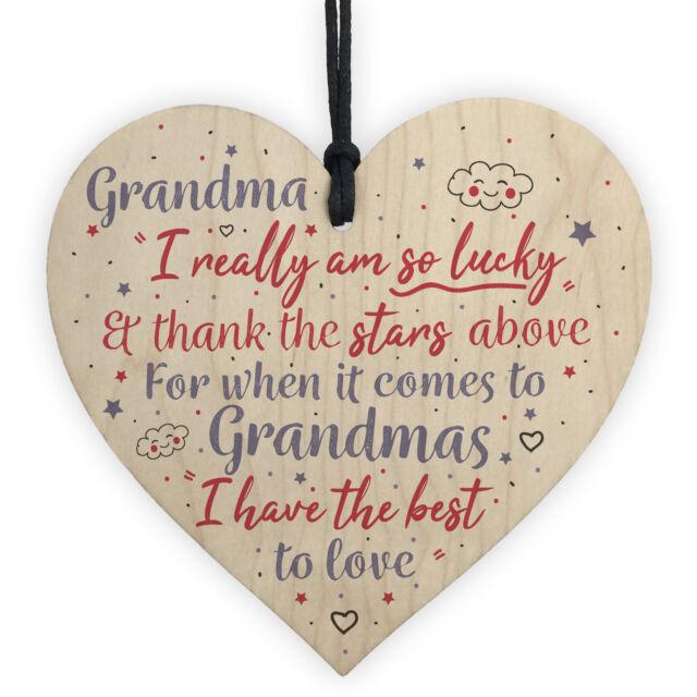 Thank You Heart Mum Grandma Nan Christmas Gifts Birthday Granddaughter Son Gift